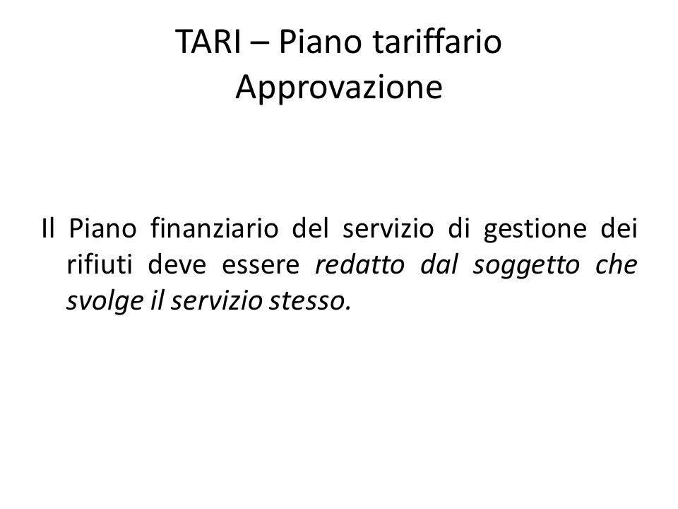 TARI – Piano tariffario Approvazione