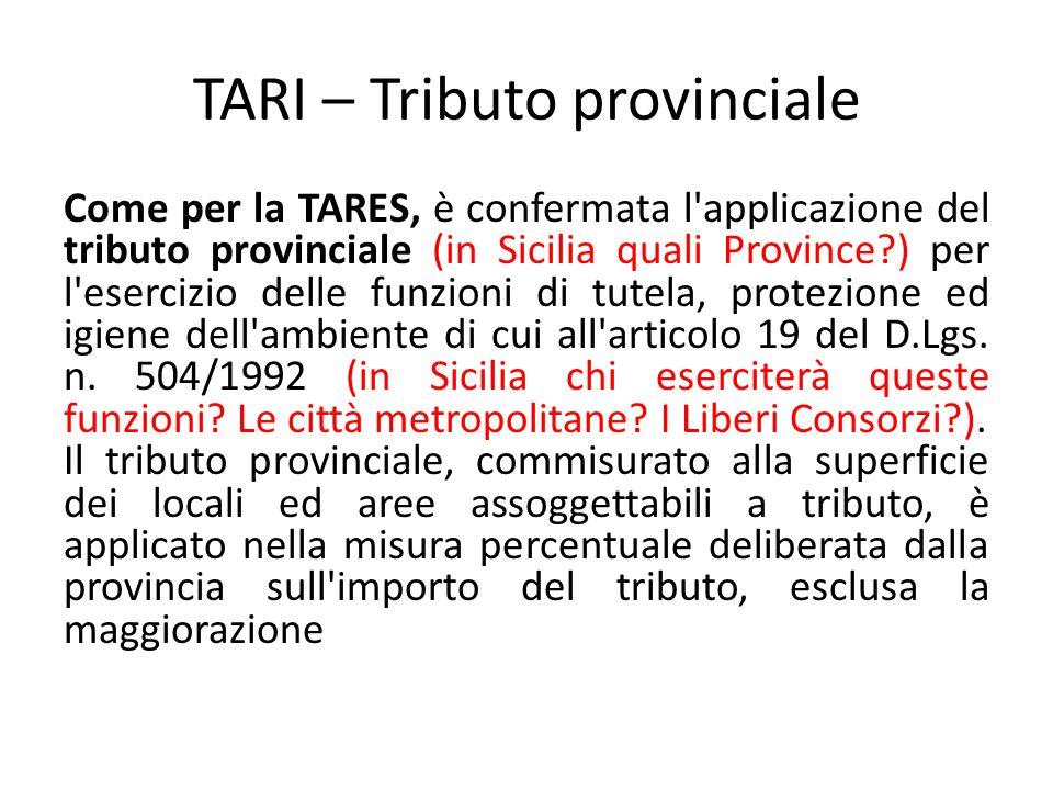TARI – Tributo provinciale