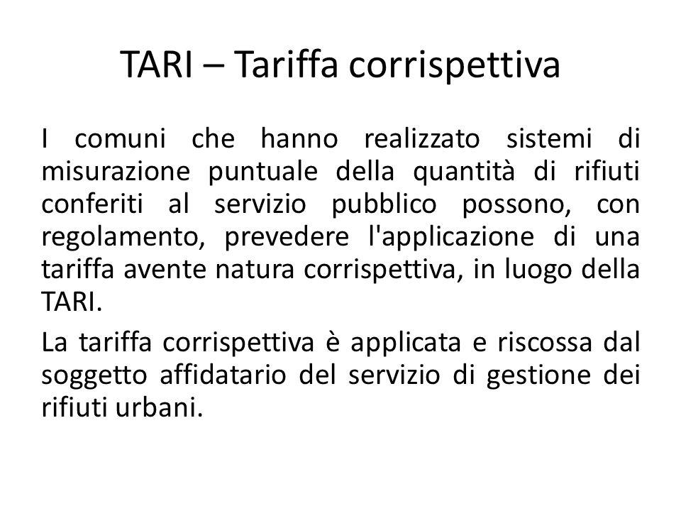TARI – Tariffa corrispettiva