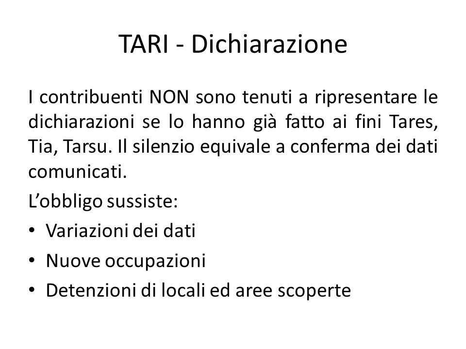 TARI - Dichiarazione