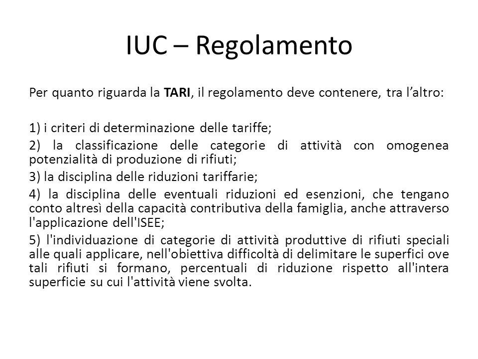 IUC – Regolamento