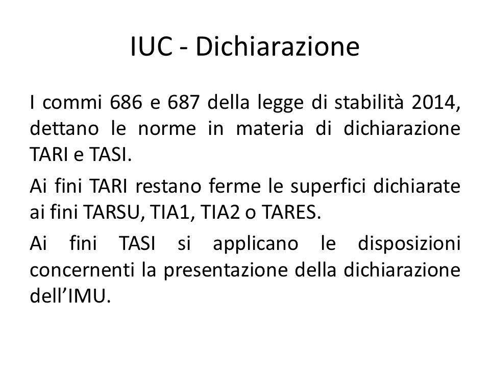 IUC - Dichiarazione