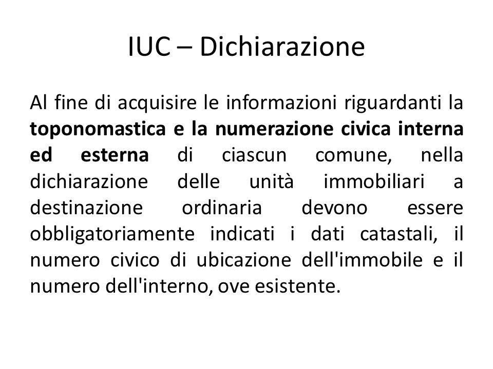 IUC – Dichiarazione