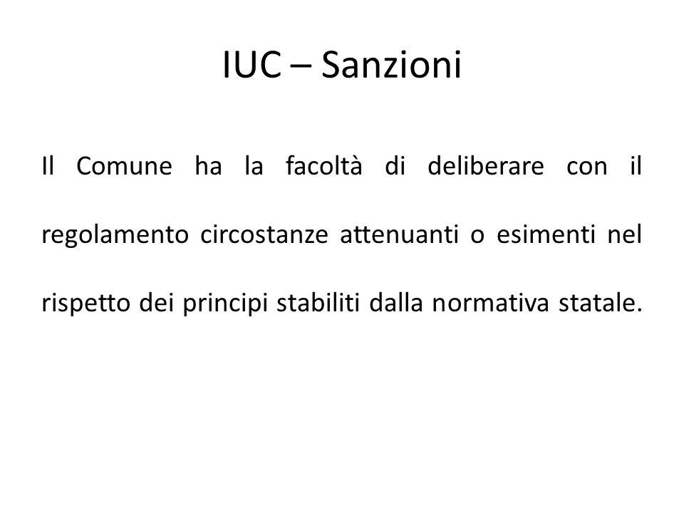 IUC – Sanzioni