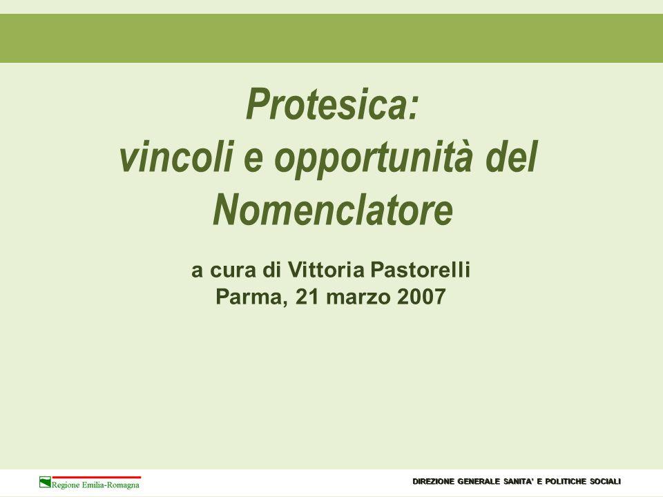 vincoli e opportunità del a cura di Vittoria Pastorelli
