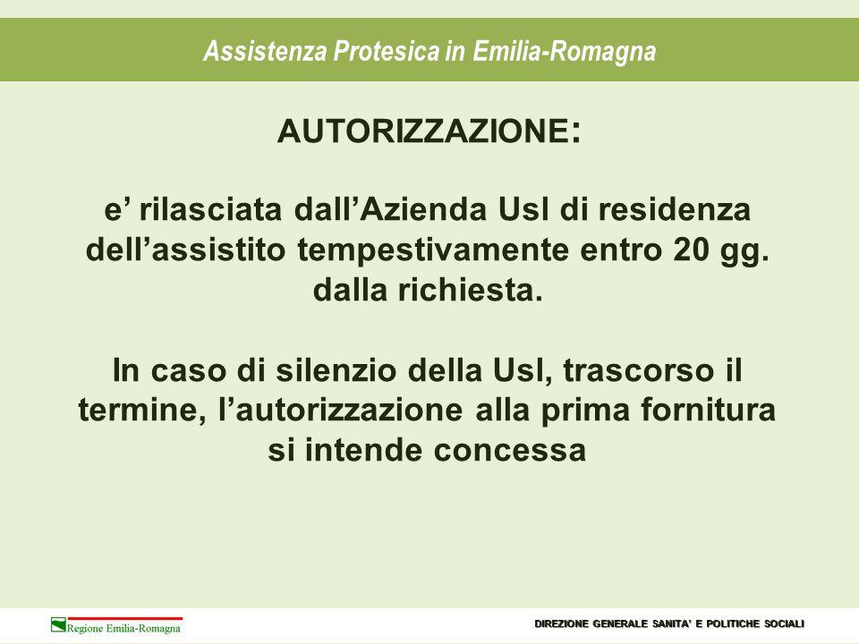 Assistenza Protesica in Emilia-Romagna