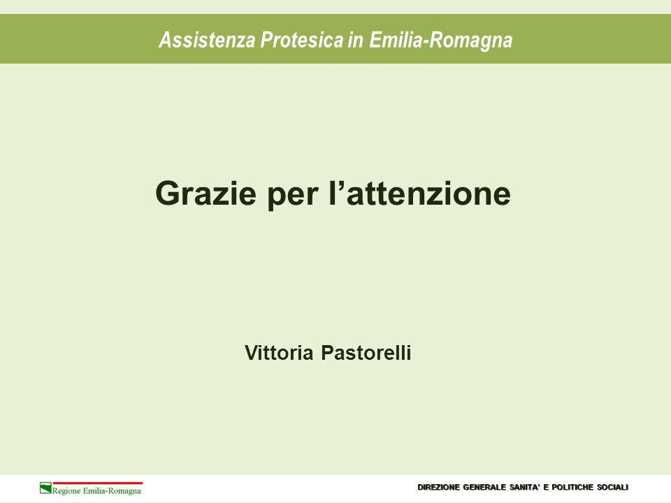 Assistenza Protesica in Emilia-Romagna Grazie per l'attenzione