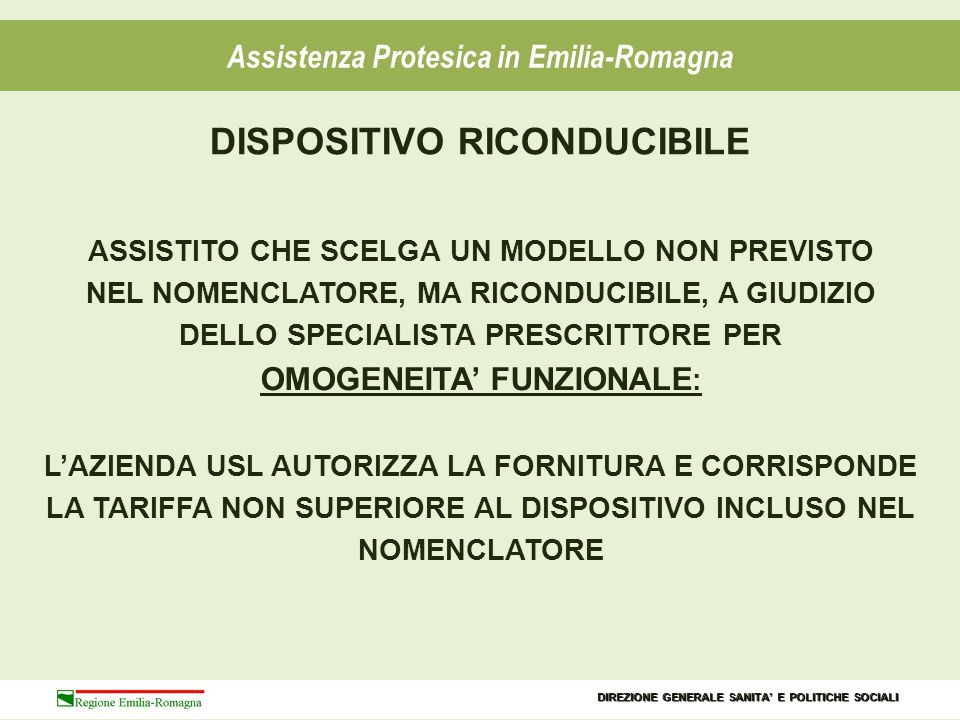 DISPOSITIVO RICONDUCIBILE