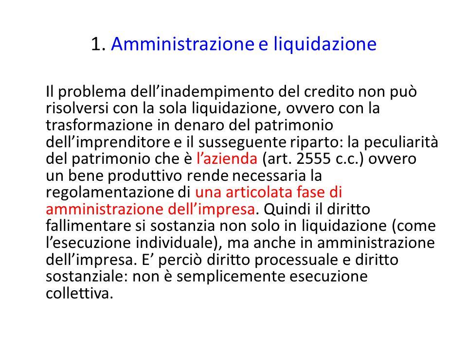 1. Amministrazione e liquidazione