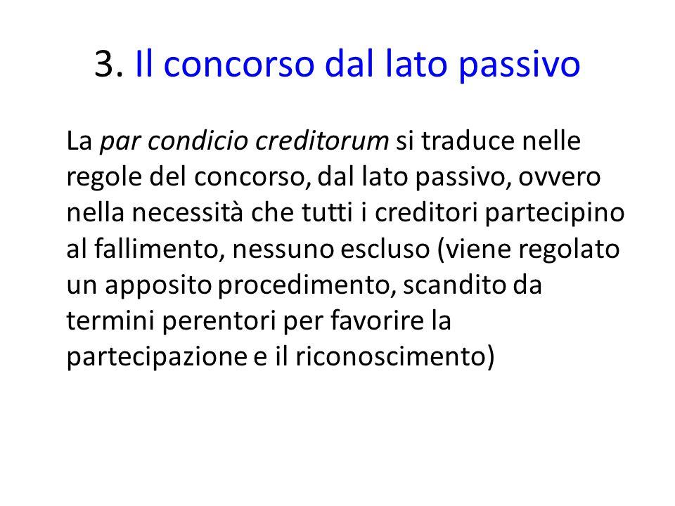 3. Il concorso dal lato passivo