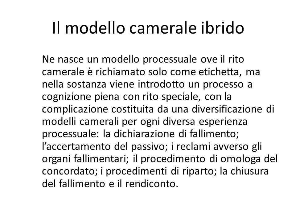 Il modello camerale ibrido