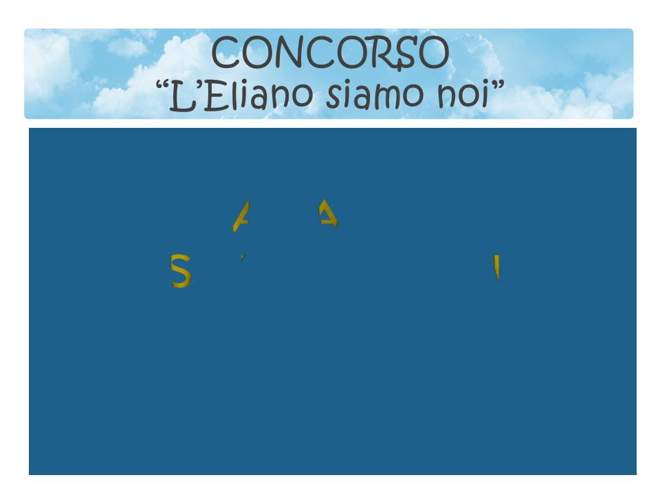 CONCORSO L'Eliano siamo noi