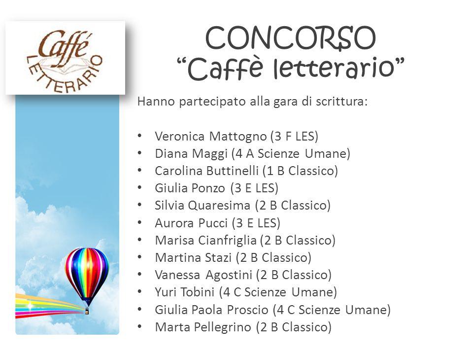 CONCORSO Caffè letterario