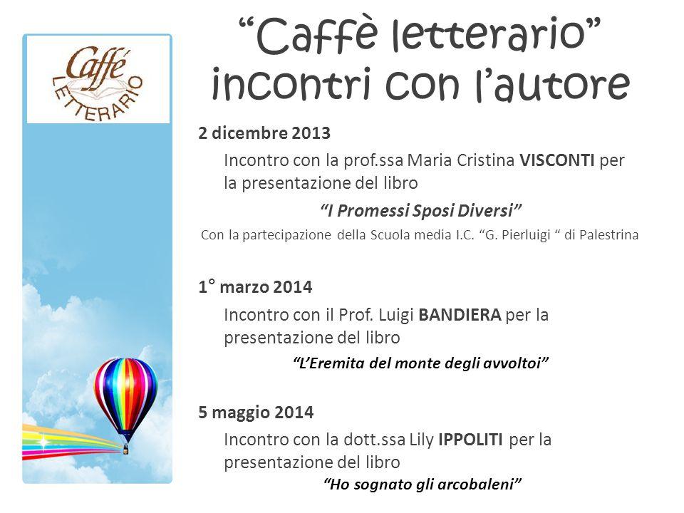 Caffè letterario incontri con l'autore