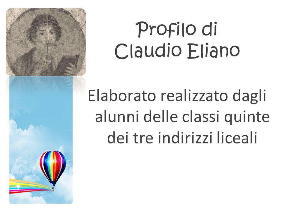 Profilo di Claudio Eliano