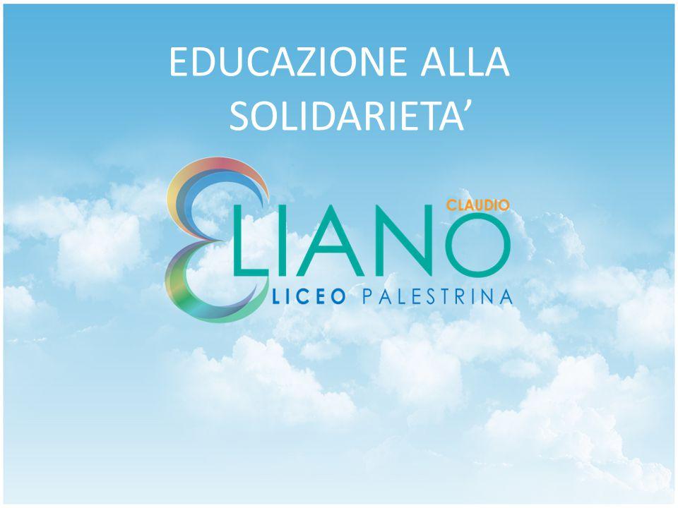 EDUCAZIONE ALLA SOLIDARIETA'