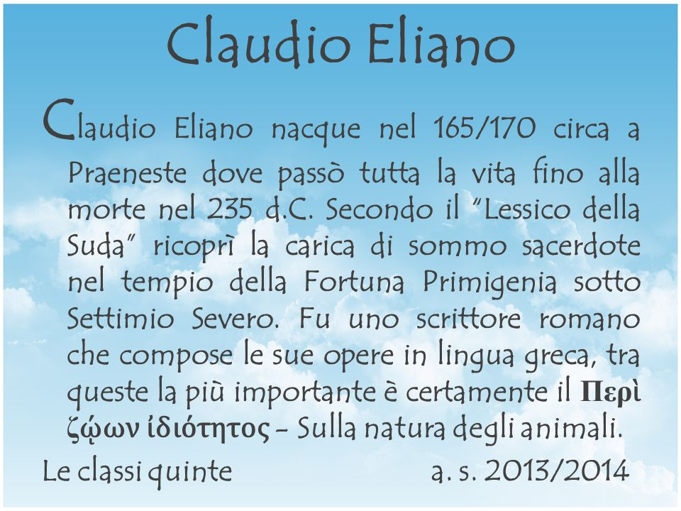 Claudio Eliano