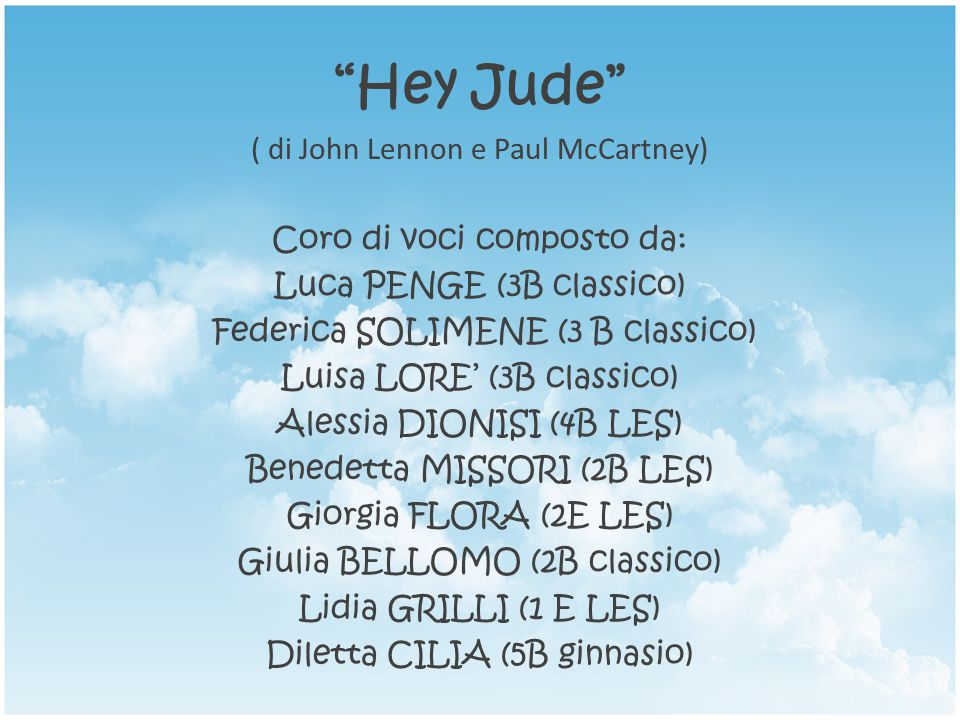 Hey Jude ( di John Lennon e Paul McCartney)