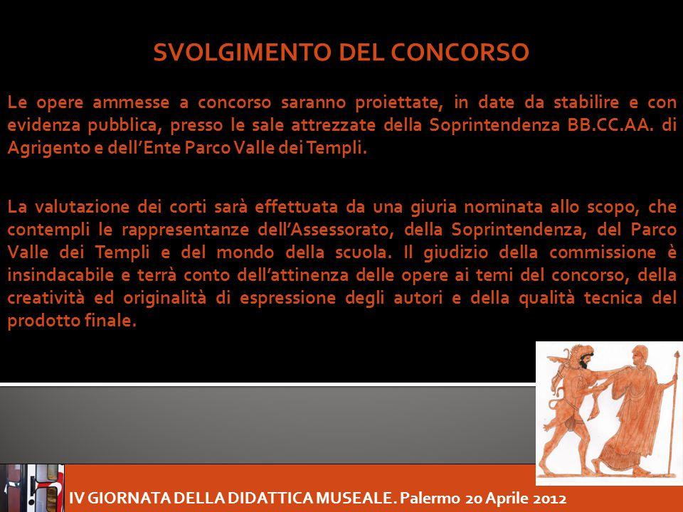 SVOLGIMENTO DEL CONCORSO