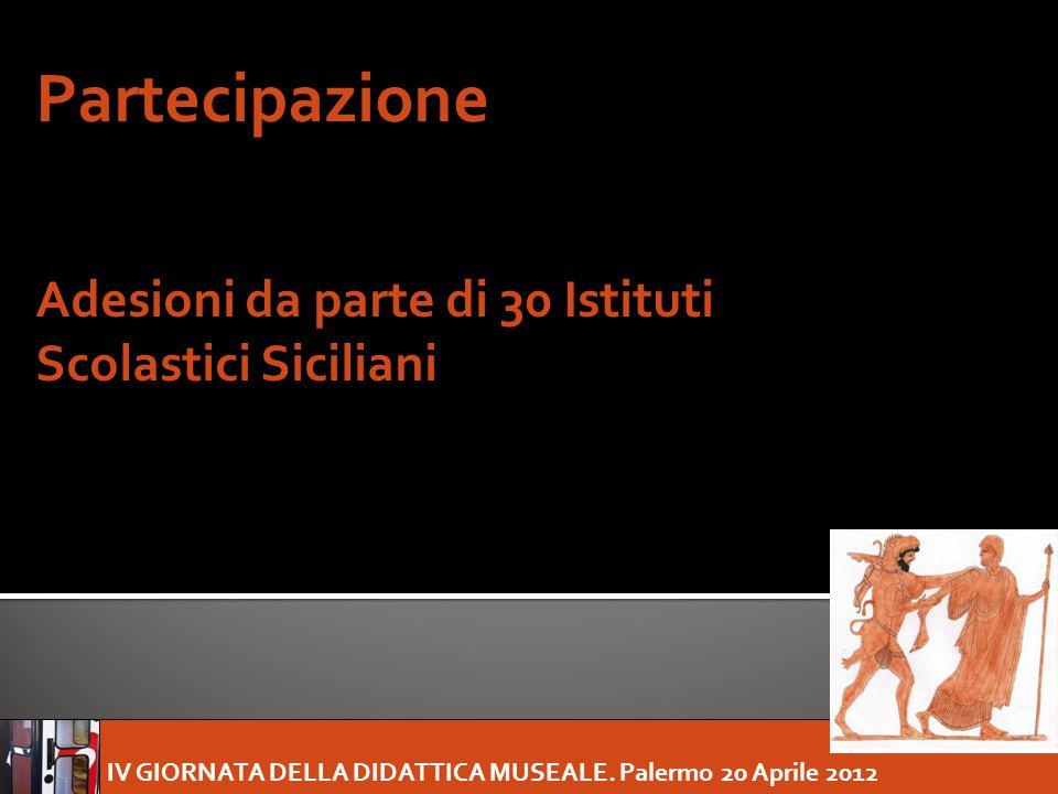 Partecipazione Adesioni da parte di 30 Istituti Scolastici Siciliani
