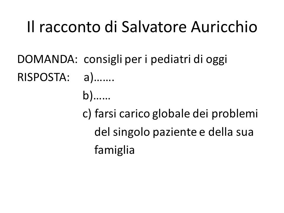 Il racconto di Salvatore Auricchio
