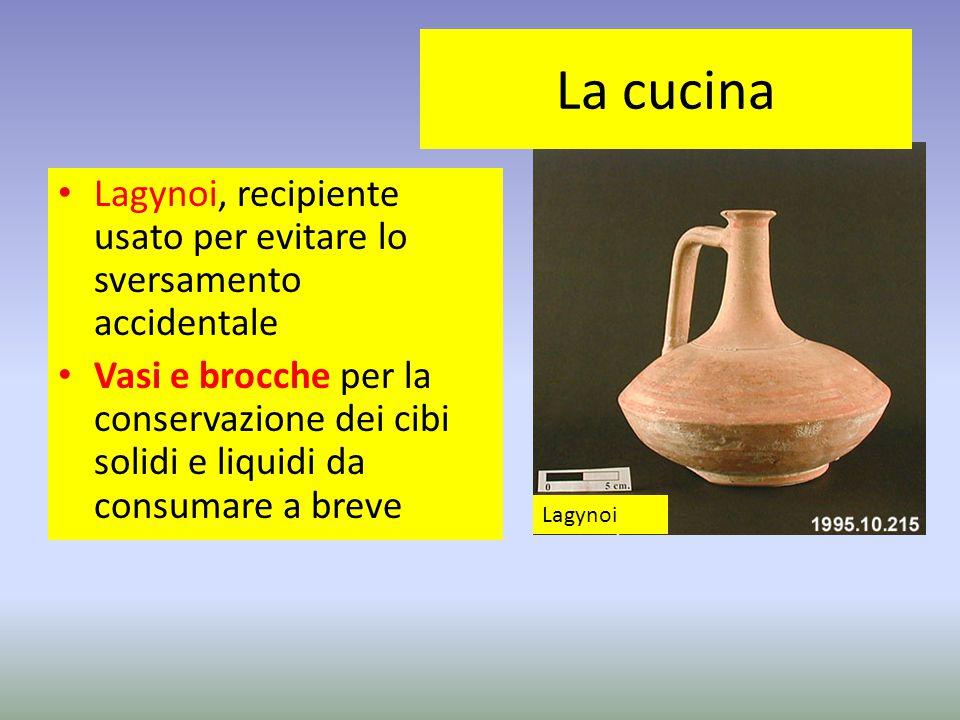 La cucina Lagynoi, recipiente usato per evitare lo sversamento accidentale.