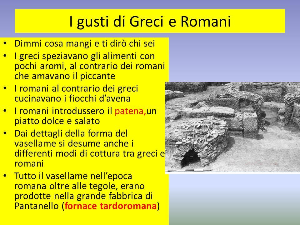 I gusti di Greci e Romani