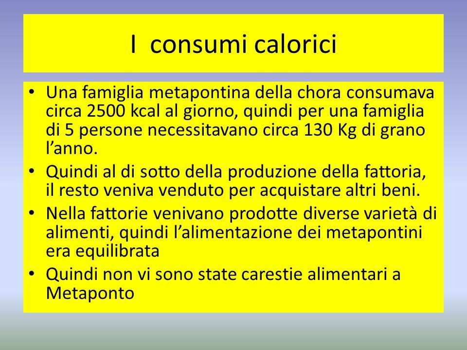 I consumi calorici