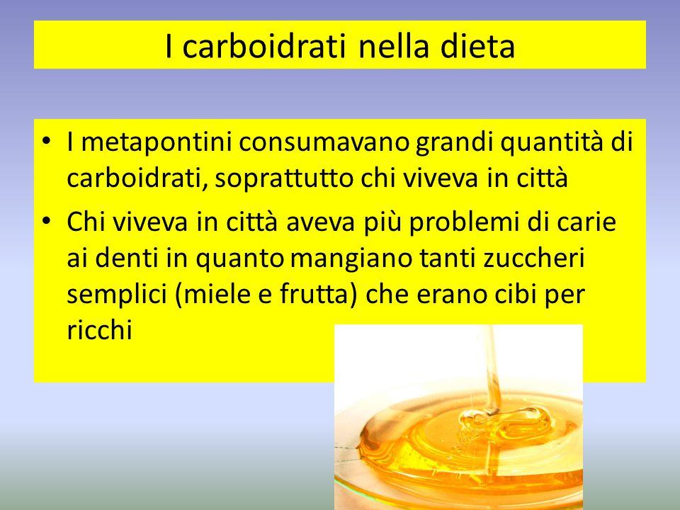 I carboidrati nella dieta