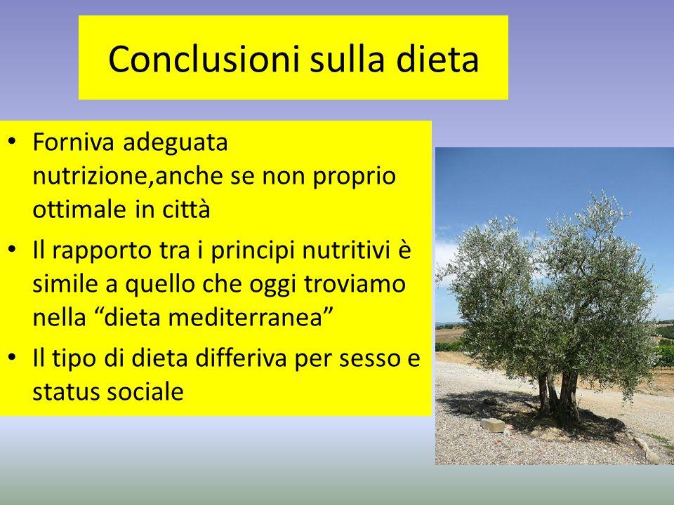 Conclusioni sulla dieta
