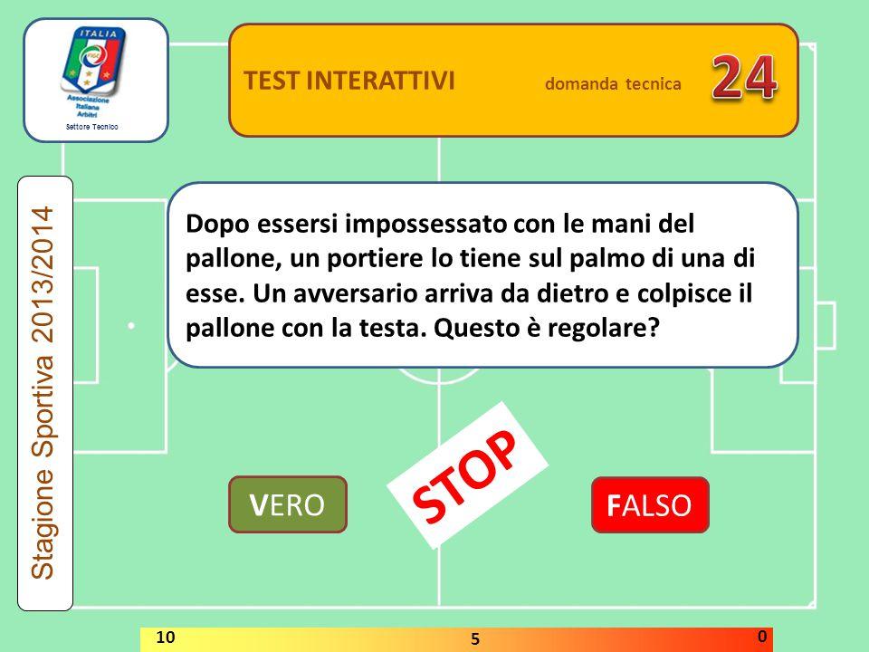 24 STOP VERO FALSO TEST INTERATTIVI domanda tecnica