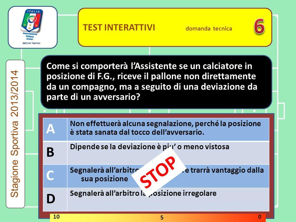 6 STOP A B C D A B C D TEST INTERATTIVI domanda tecnica