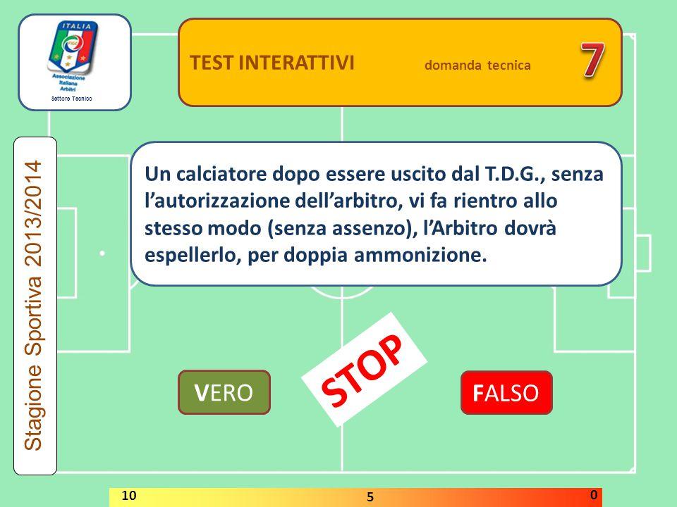 7 STOP VERO FALSO TEST INTERATTIVI domanda tecnica
