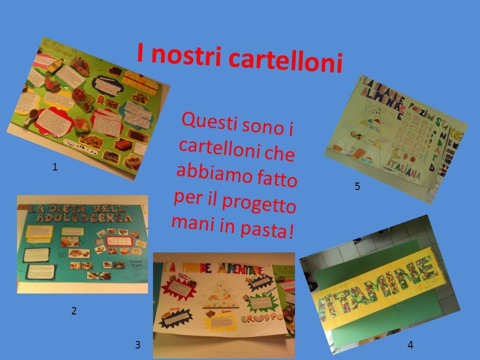 I nostri cartelloni Questi sono i cartelloni che abbiamo fatto per il progetto mani in pasta! 1. 5.