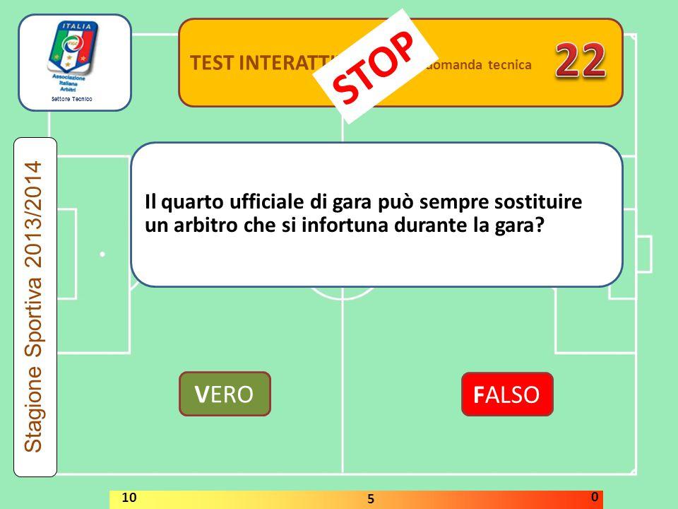 22 STOP VERO FALSO TEST INTERATTIVI domanda tecnica