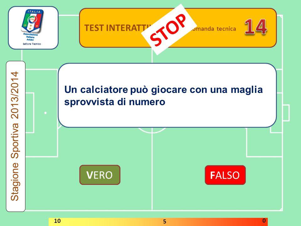 14 STOP VERO FALSO TEST INTERATTIVI domanda tecnica