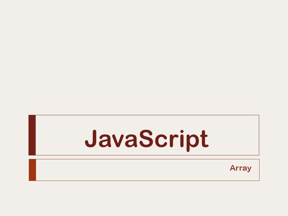 JavaScript Array