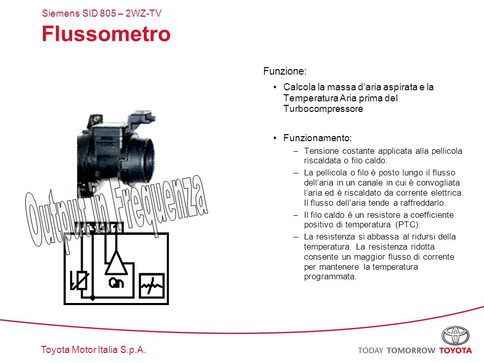 Flussometro Output in Frequenza Funzione: Siemens SID 805 – 2WZ-TV