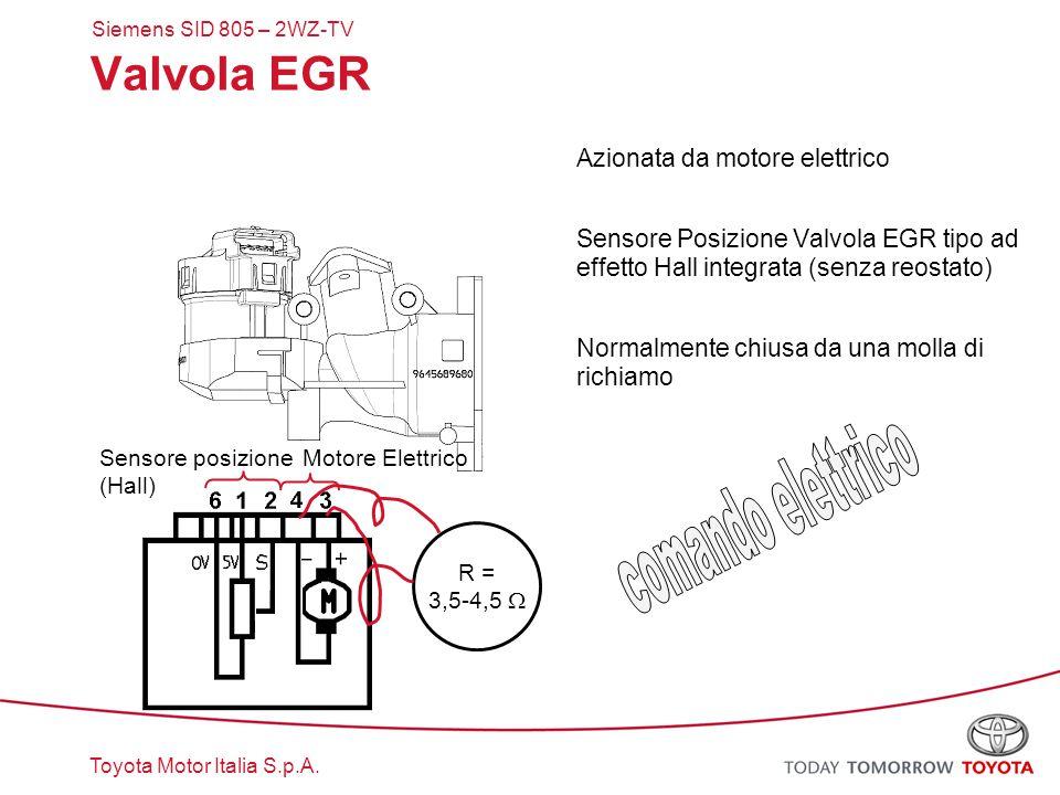 comando elettrico Valvola EGR Azionata da motore elettrico