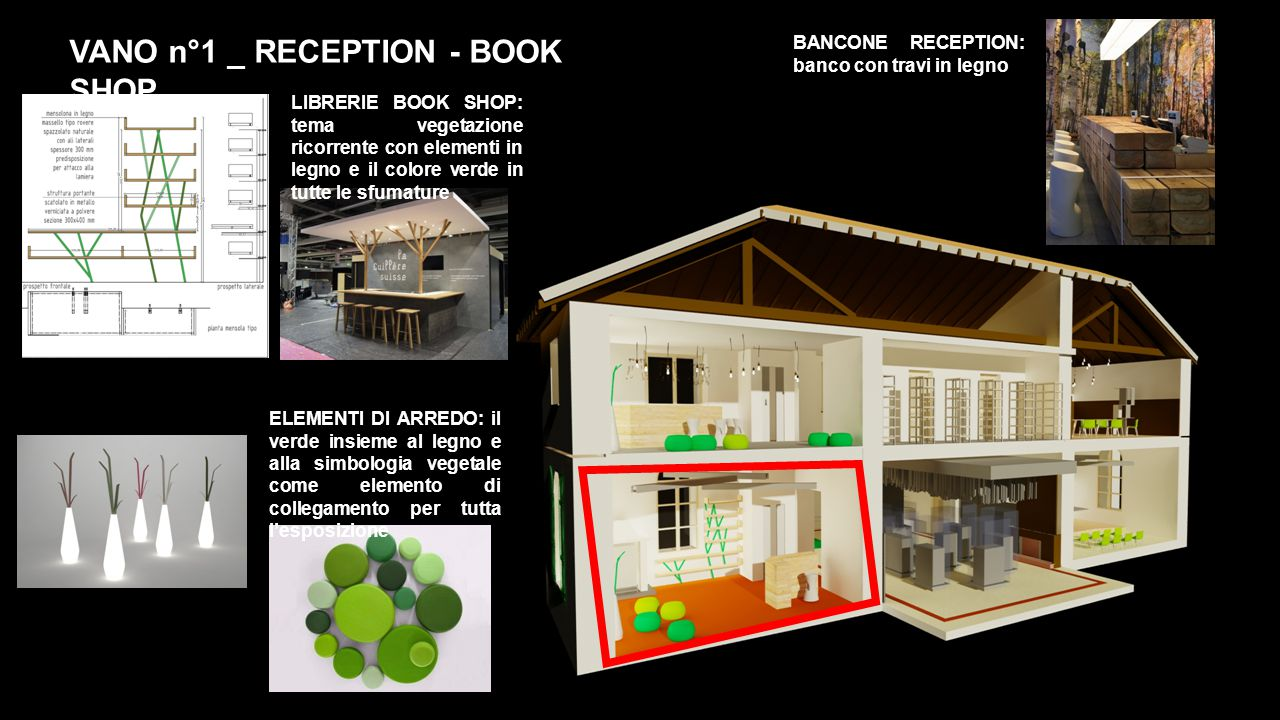VANO n°1 _ RECEPTION - BOOK SHOP