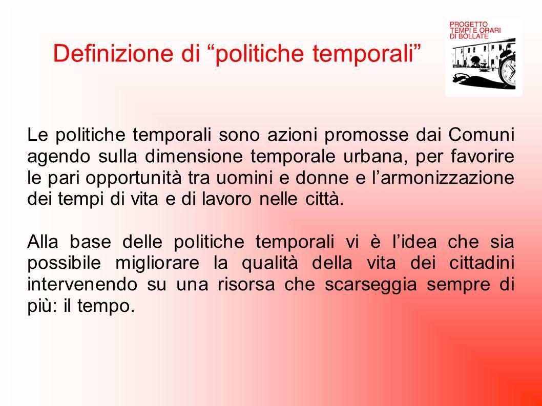 Definizione di politiche temporali