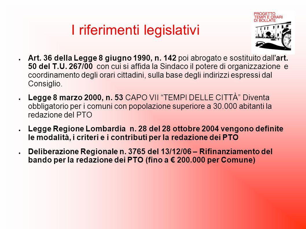 I riferimenti legislativi