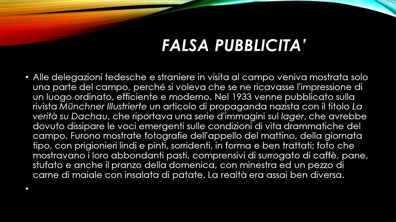 FALSA PUBBLICITA'