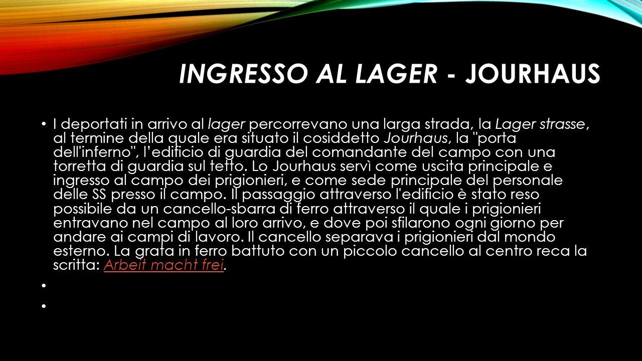 INGRESSO AL LAGER - JOURHAUS