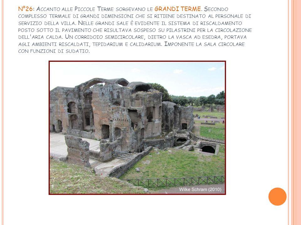 N°26: Accanto alle Piccole Terme sorgevano le GRANDI TERME