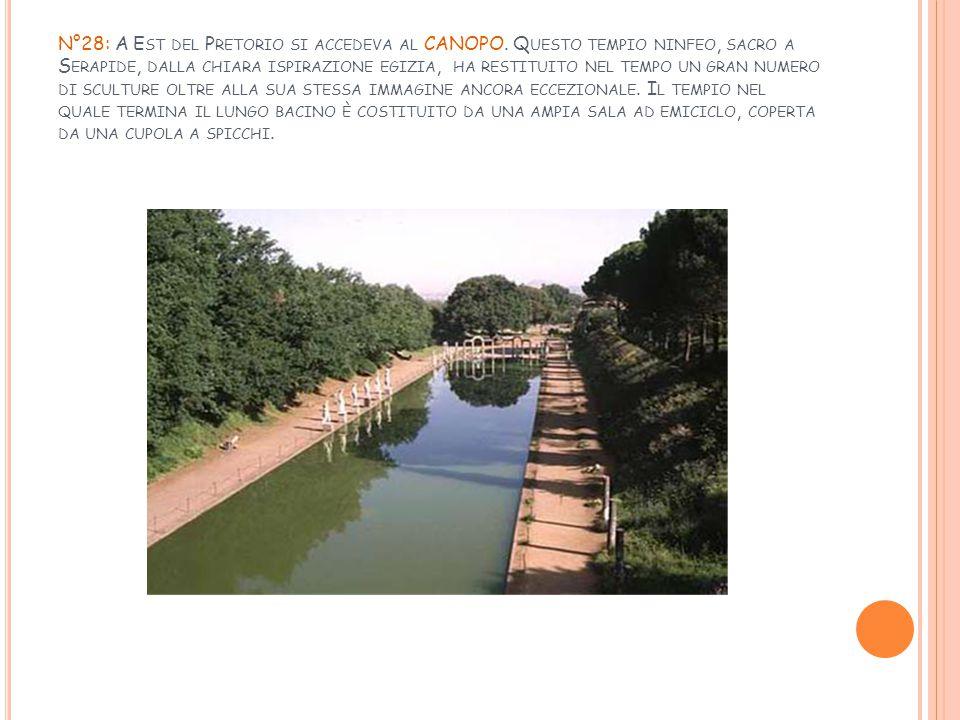 N°28: A Est del Pretorio si accedeva al CANOPO