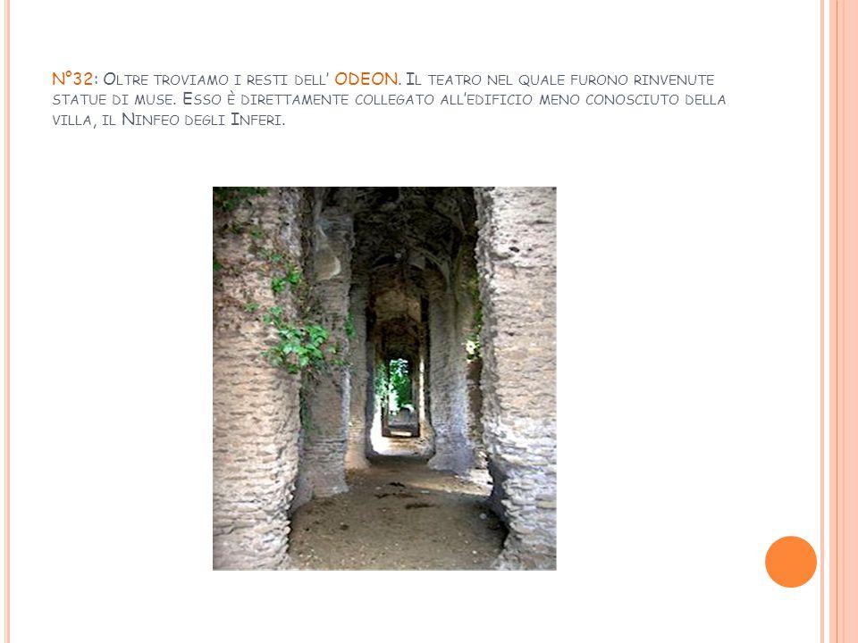 N°32: Oltre troviamo i resti dell' ODEON