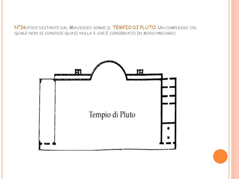 N°36:poco distante dal Mausoleo sorge il TEMPIO DI PLUTO