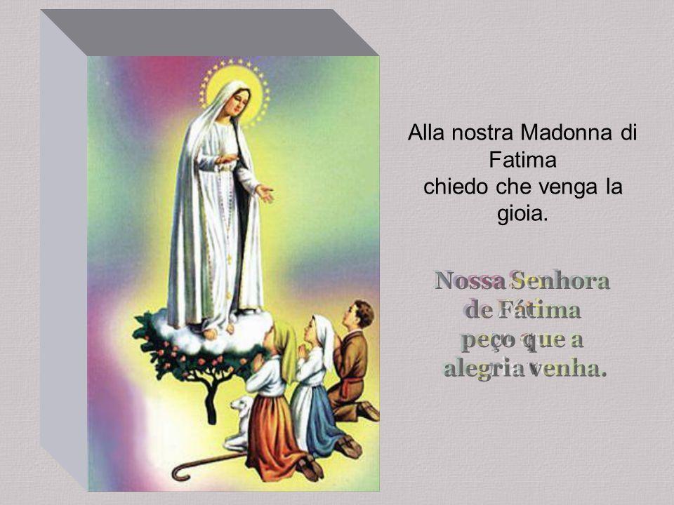 Alla nostra Madonna di Fatima chiedo che venga la gioia.