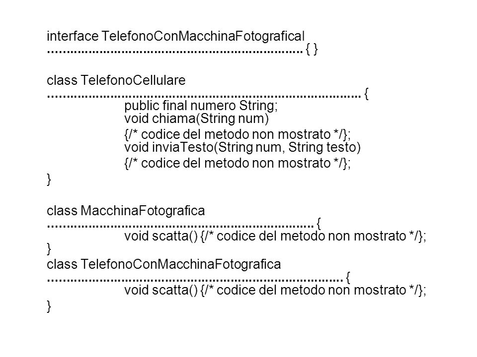 interface TelefonoConMacchinaFotograficaI ...................................................................... { }